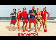 The teaser for the reboot begins with the familiar opening notes of the Baywatch theme song and a shot of lifeguards running in slow-mow before cutting to Buchannon in action rescuing a woman from a boat on fire.