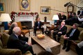 President Obama Meets With 2016 American Nobel Prize Winners