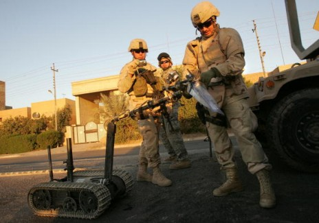 Army Explosives Team Destroys Roadside Bombs In Iraq