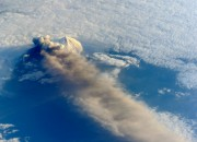 Astronauts on board the International Space Station were able to capture images of the erupting volcano in Alaska.