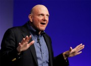 Microsoft CEO Steve Ballmer escorted by Nancy Tellam of Microsoft Entertainment Studios went to Hollywood to push the Xbox One to the big bosses.
