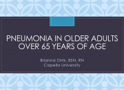 One cause is that a person's immunity decays after age 50,
