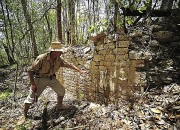 Chactun, an ancient Mayan city abandoned ten centuries ago, has been uncovered in a Mexican rain forest. The area appears to have once been a thriving center of government, recreation and worship.