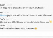 A new app by PayPal allows Slack users to complete financial transactions like paying for coffee, lunch or drinks among colleagues.