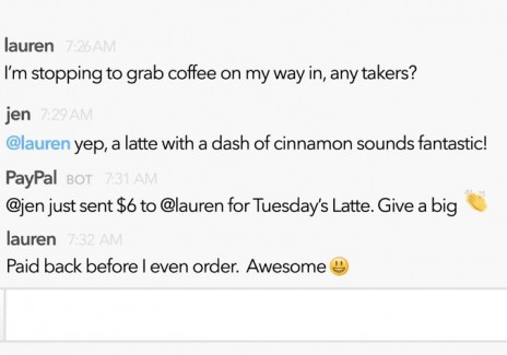 PayPal And Slack Lets You Pay Your Co-Worker For Drinks Tonight Or Coffee Tomorrow
