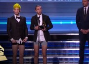 WINNING their first Grammy Award has to be marked in an unique way – and Twenty One Pilots did certainly made an impact by receiving their award in their underwear.