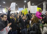 President Trump's travel ban has sparked protests. The Dana-Farber fundraiser has been protested by medical students as it would be held on one of Trump's resorts.