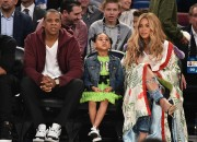 Beyonce' and Jay Z's five year old daughter, Blue Ivy has yet again stolen the show at the NBA All Star Game.