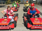 MariCar, a magical company in Tokyo that rents go-carts and Mario costumes for Mario Kart-inspired tours around the whole city, seems to be loved by Japanese as well as foreigner people.