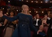 After her feud with Chanel hours before the Oscars, Meryl Streep tumbled in the red carpet in her blue Elie Saab gown.