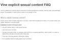 Vine explicit sexual content FAQ