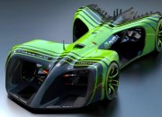 The first-ever self-driving AI-powered race car from Roborace, the Robocar, makes an appearance at the 2017 Mobile World Congress.