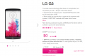 T-Mobile LG G3 pre-order page