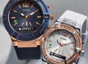 Guess revealed two new smartwatch designs, one for men and one for women.