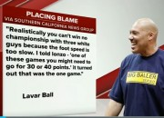 LaVar Ball met his match when he was called out live during his interview. Ball was also grilled when he commented about his son's white teammates.