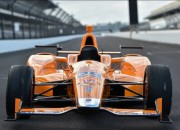 A McLaren-Honda racecar that will be driven by Fernando Alonso is touted to win this year's Indy 500. This is the first time in 38 years that McLaren will again compete in this race.