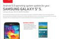 Verizon Samsung Galaxy S5 Android 5.0 Lollipop update