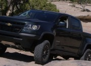 The 2017 Chevrolet Colorado ZR2 is a mid-sized truck great for off-road driving thanks to its Formula 1-styled shock absorbers.