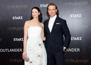 Sam Heughan and Caitriona Balfe took to social media to celebrate the wrap up of
