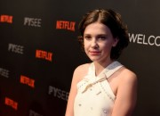 Young actress Millie Bobby Brown takes a break from