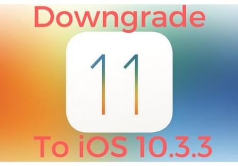 Downgrade iOS 11 to iOS 10.3.3