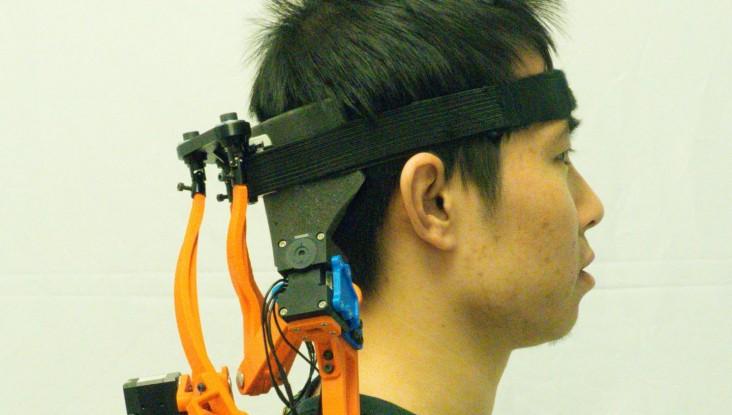 A Study Participant Wearing the Robotic Neck Brace (IMAGE)
