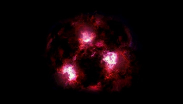Artist's impression of a Massive Galaxy