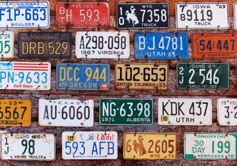 old American license plates