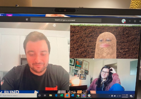 The Potato Microsoft Teams Mishap: Hilarious Boss Can't Get Rid of Her Filter During a Video Meeting!