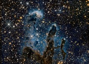 Stunning image of Pillars of Creation as NASA's Hubble Telescope redefines that discovery with the use of infrared light in this stunning photograph