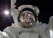 Increased brain size caused by staying in space for a prolonged period of time, a study observed