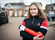 A fourteen-year-old teen born with most of her left arm missing is given a new bionic arm and she can finally learn to ride a bike!