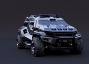 A new armored truck has been catching everyone's attention with its mean-looking military-oriented and futuristic design making the apocalypse look like just another ride in the park.
