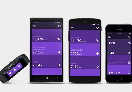 Microsoft Band wearable with cross-platform functionality