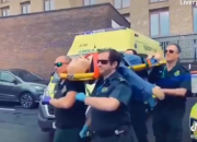 A group of ambulance workers attempted to do the