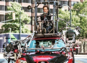 A picture on Reddit shows how the driver in 2017 movie Baby Driver was shot. The actual driver was driving on top of the car!