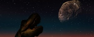 Asteroid heading towards a dinosaur-inhabited Earth