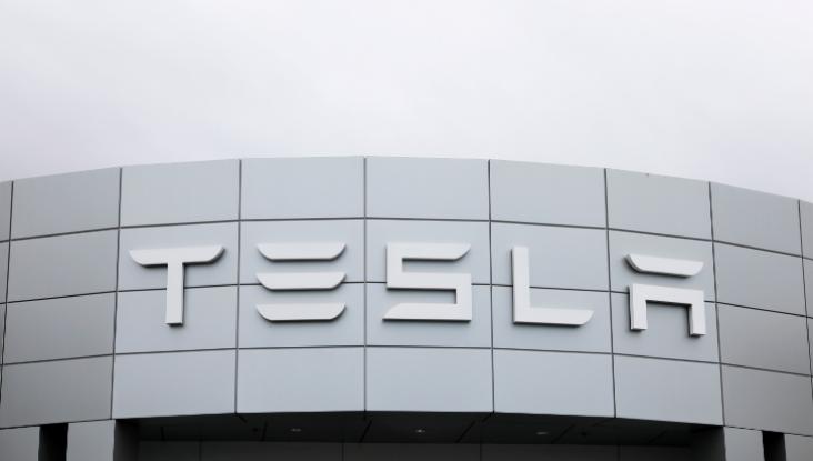 FILE PHOTO: A Tesla service center is shown in Costa Mesa, California