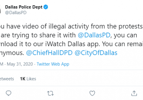 Dallas Police iWatch App Urges People to Provide Evidence of Protesters: People Start Flooding the App with Kpop to Hide Actual Videos