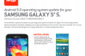Verizon Samsung Galaxy S5 Android 5.0 Lolliop update