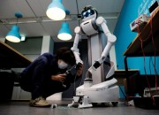 The Ugo robot created by the Japanese robotics start-up Mira Robotics was initially designed to be a backup workforce for the ageing workers in Japan.  But now they have found a role in the fight against the coronavirus.