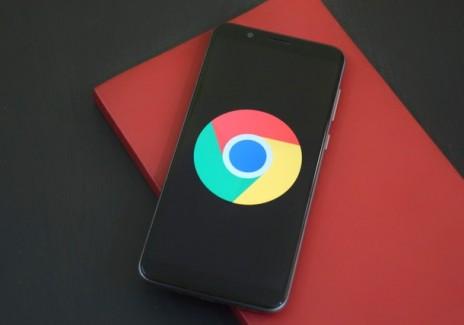 Chrome on a smartphone