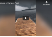Mike Smith captured a video of a suspected twister over Sturgeon Lake at around 3 pm of June 23.