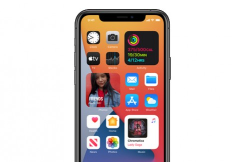 iPhone with iOS 14