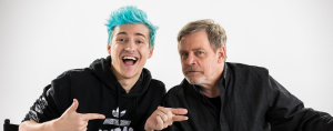 "Tyler ""Ninja"" Blevins with Mark Hamill"