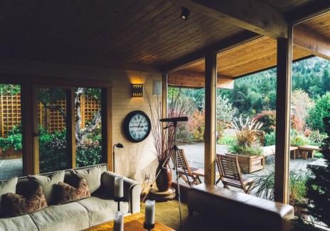 Telescope in a house