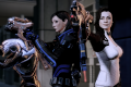 Legion, female Commander Shepard, and Miranda Lawson in Mass Effect 2