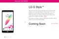 T-Mobile LG G Stylo coming soon